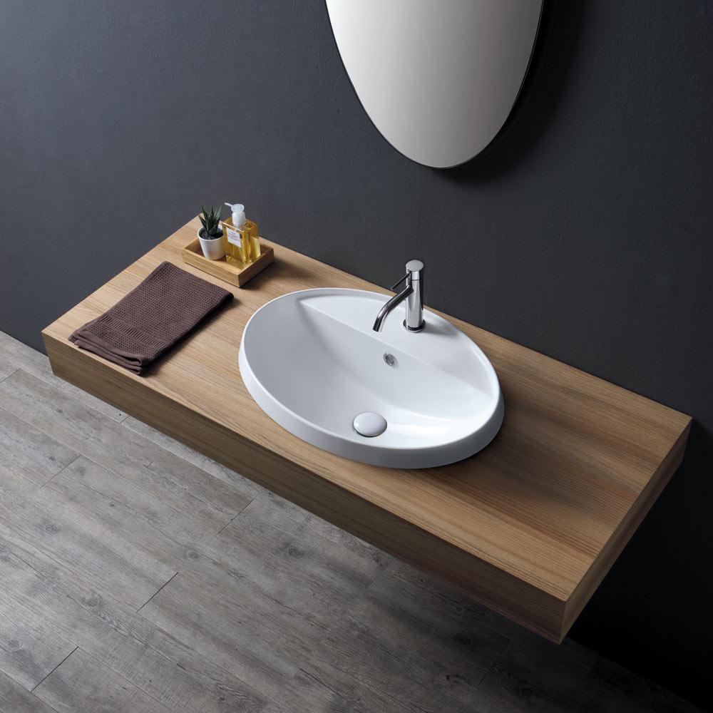 Lavabo da incasso 4 cm Softly 57 rubinetto